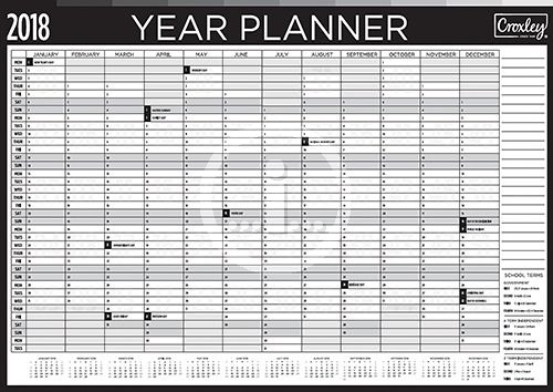 croxley year planner 2018