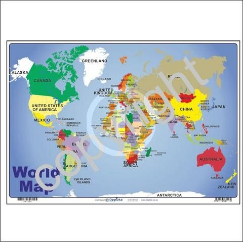 Bhams stationers catalogue scholastic supplies education and bhams stationers catalogue scholastic supplies education and teaching aids depicta world map wall chart 455x320mm gumiabroncs